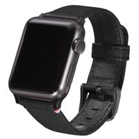 Decoded : Leather Strap for AppleWatch 38 mm, Black - Zwart