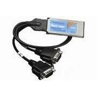 Brainboxes interfaceadapter: ExpressCard 2 Port RS232 - Zwart, Zilver