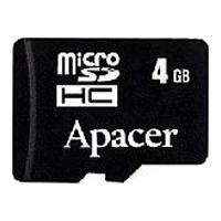 Apacer flashgeheugen: 4GB microSDHC Dual Card - Zwart