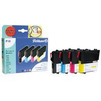 Pelikan inktcartridge: 4 cartridges - Zwart, Cyaan, Magenta, Geel