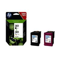 HP inktcartridge: 301 2-pack kleur o.a. voor DeskJet 1050 All-in-One printer serie - Zwart, Cyaan, Magenta, Geel