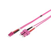 Digitus fiber optic kabel: 2m OM4 LC / SC