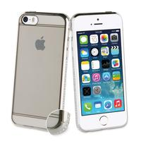 Muvit mobile phone case: Case with diamonds, Apple iPhone 5s/se, 40g, silver - Zilver