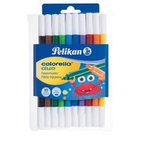 Pelikan viltstift: Etui COLORELLA DUO C407/10, Kleuren ass. - Multi kleuren