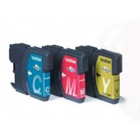 Brother inktcartridge: Voordeelverpakking LC-1100C,M,Y - Cyaan, Magenta, Geel
