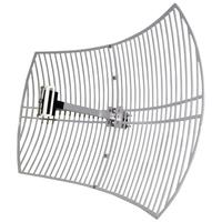 LogiLink antenne: Wireless LAN Antenna, Grid Parabolic, 24 dBi, Outdoor - Metallic