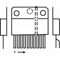 ST-MicroElectronics  component: 18 W 22 V audio ampl. vert.