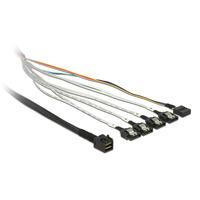 DeLOCK SAS Kabel Delock Mini SAS HD -> 4x Sata 7Pin +Sideband 1.00m (83316)