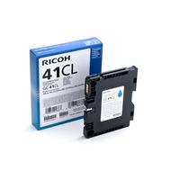 Ricoh inktcartridge: GC 41CL, 600 pagina's - Cyaan