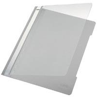 Leitz stofklepmap: Standard Plastic File Grey A4 PVC (25) - Grijs