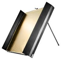 Walimex camera kit: pro Reflector Panel with Barn Doors, 1x1m - Zwart, Goud