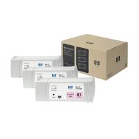 HP inktcartridge: 81 licht-magenta DesignJet kleurstofinktcartridges, 680 ml, 3-pack - Lichtmagenta
