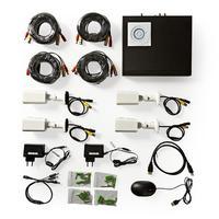 Nedis CCTV Security Recorder set, 4x Cameras included, Full HD, 1 TB HDD video toezicht kit - Zwart