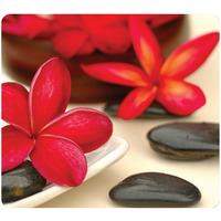 Fellowes muismat: Earth Series Muismat Spa bloemen - Zwart, Bruin, Rood