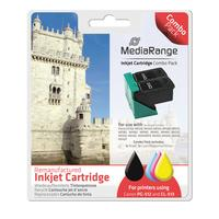 MediaRange inktcartridge: 1x BK 16ml & 1x CMY 16.5ml - Zwart, Cyaan, Magenta, Geel