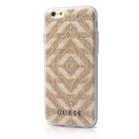 GUESS mobile phone case: TPU case Aztec for Apple iPhone 6/6S - Beige, Transparant