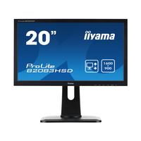 "Iiyama monitor: ProLite 20"" LED en Wide LCD Monitor met TN panel - Zwart"