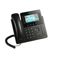 Grandstream networks IP telefoon: IP phone, Dual gigabit ports, PoE, Bluetooth, 12 lines, 6 SIP accounts, 10.922 cm .....
