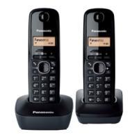 Panasonic dect telefoon: KX-TG1612 - Zwart