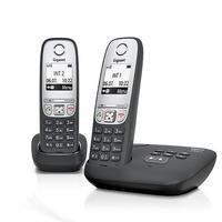 Gigaset dect telefoon: A415A Duo - Zwart, Zilver