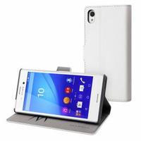 Muvit mobile phone case: Mfx White Wallet Folio Case f/ Sony Xperia M4/m4 Aqua - Wit