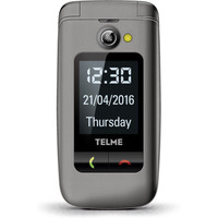 TELME mobiele telefoon: X200 - Grijs, Alphanumeric keypad