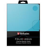 Verbatim tablet case: Folio Case and stand for iPad Aqua Blue - Blauw
