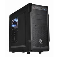 CASE Versa G1 Black / Ventilated front panel enhanced superior airflow / Bottom-placed PSU / USB 3.0