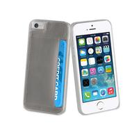 Muvit mobile phone case: Crystal Card Silver For Apple Iphone 5s/se - Zilver