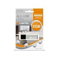 Xlyne USB flash drive: ALU - Zwart, Zilver