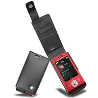 Noreve mobile phone case: 31020, Tradition leather case f/ Sony Ericsson W910 - Zwart