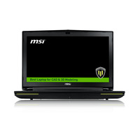 MSI laptop: Workstation WT72-2OK16SR21BW - Zwart