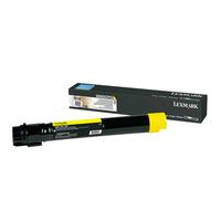Lexmark toner: X950, X952, X954 tonercartridge geel met extra hoog rendement