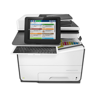 HP multifunctional: PageWide Enterprise Color Flow 586z - Zwart, Wit