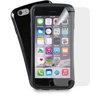 Azuri mobile phone case: Grip cover met 1 screenprotector inbegrepen - zwart - voor iPhone 6/6S