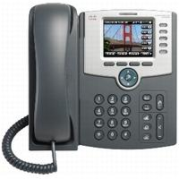 "Cisco ip telefoon: SPA 525G2, 5-Line, LCD, 8.128 cm (3.2 "") , 320x240, Wi-fi, Bluetooth, grey"