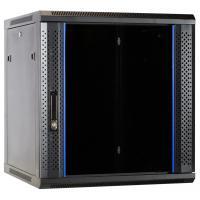 Ds-it rack: 12U wandkast met glazen deur 600x600x635mm (BxDxH)