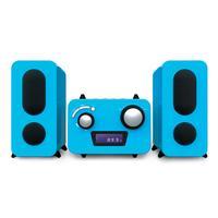 Bigben Interactive home stereo set: Microset met radio en CD speler +500 stickers - blauw