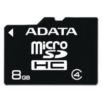 ADATA flashgeheugen: 8GB MicroSD Class 4 - Zwart