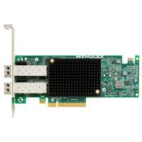 Emulex netwerkkaart: Dual-port, 10GBASE-CR (direct attach copper) SFP+, Ethernet Network Adapter - Groen, Grijs