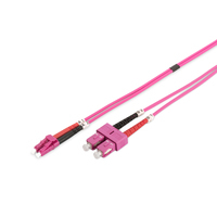 Digitus fiber optic kabel: LC / SC - Turkoois