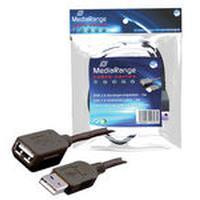 MediaRange USB kabel: MRCS111 - Zwart