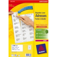Avery L7160-40 Adreslabel - Wit