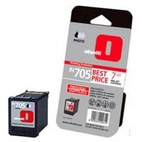Olivetti inktcartridge: Photo ink-jet cartridge IN705, 7ml capacity - Zwart, Cyaan, Magenta, Geel