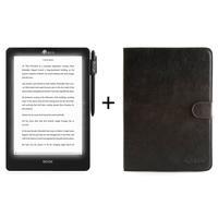 "Icarus e-book reader: Illumina Pro 9.7"" e-reader bundel met zwarte lederhoes C021BK"