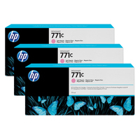 HP inktcartridge: 771C licht-magenta DesignJet inktcartridges, 775 ml, 3-pack - Lichtmagenta