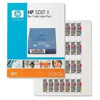 Hewlett Packard Enterprise barcode label: HP SDLT II Bar Code Labels