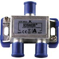 Schwaiger kabel splitter of combiner: VTF8822 241 - Zilver