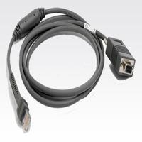 Zebra signaal kabel: RS232 Cable - Grijs