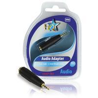 HQ kabel adapter: 2.5 - 3.5mm M/F TRS - Zwart